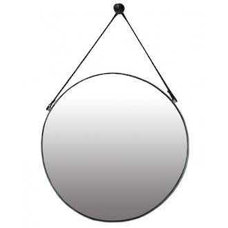 Large Round Mirror On Leather Strap