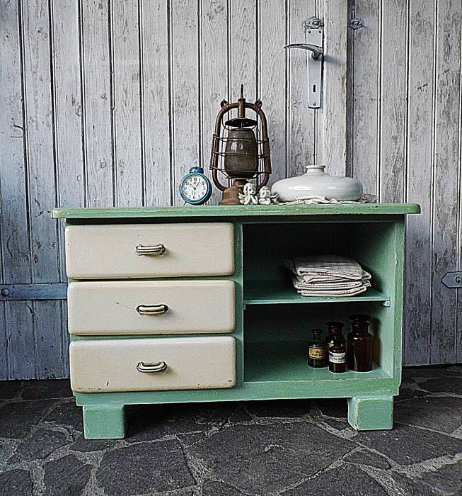 Landhausstil Küche Bilder Vintage Kommode - pastell - shabby chic - schlafzimmer style