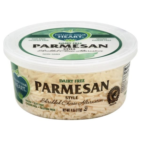 Follow Your Heart Cheese Alternative Dairy Free Shredded Parmesan Style With Images Cheese Alternatives Vegan Parmesan Cheese