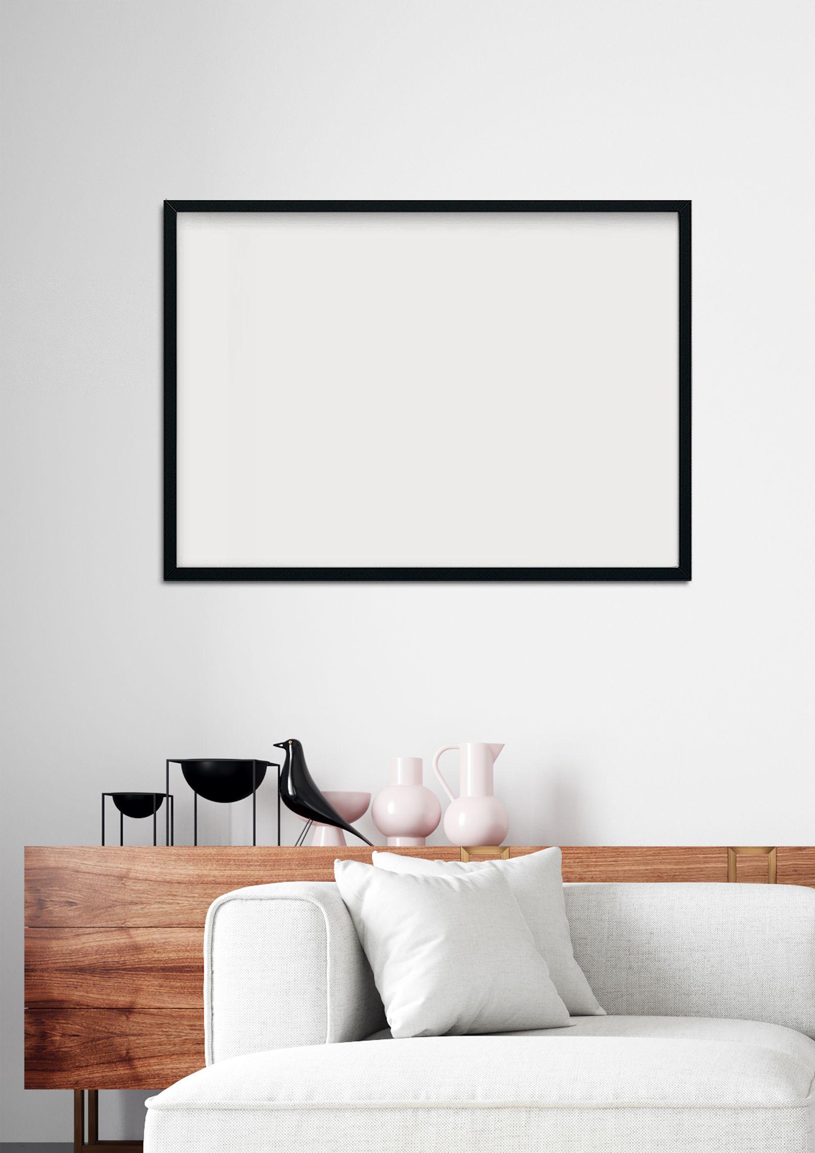 Fraem Mockup 418 Black Landscape Frame Mockup A3 Frame Mo