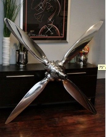 4 Bladed Airplane Propeller Home Decor Awesome Deco