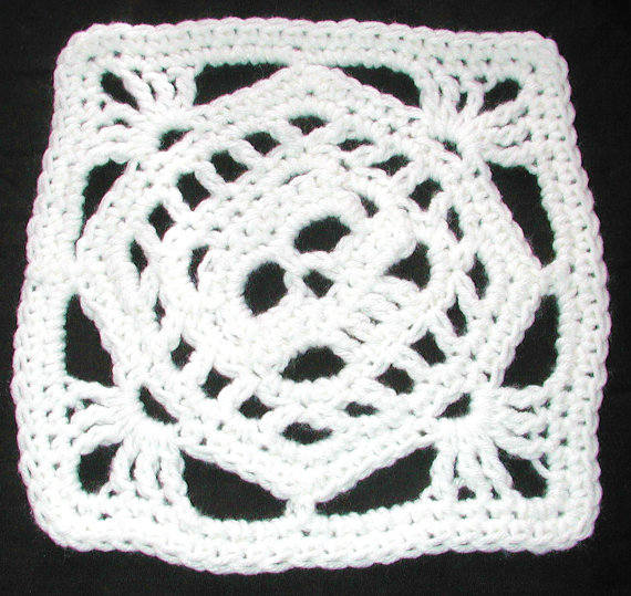 PDF Creepy Granny Skull Off Set Afghan Square Crochet Pattern ...