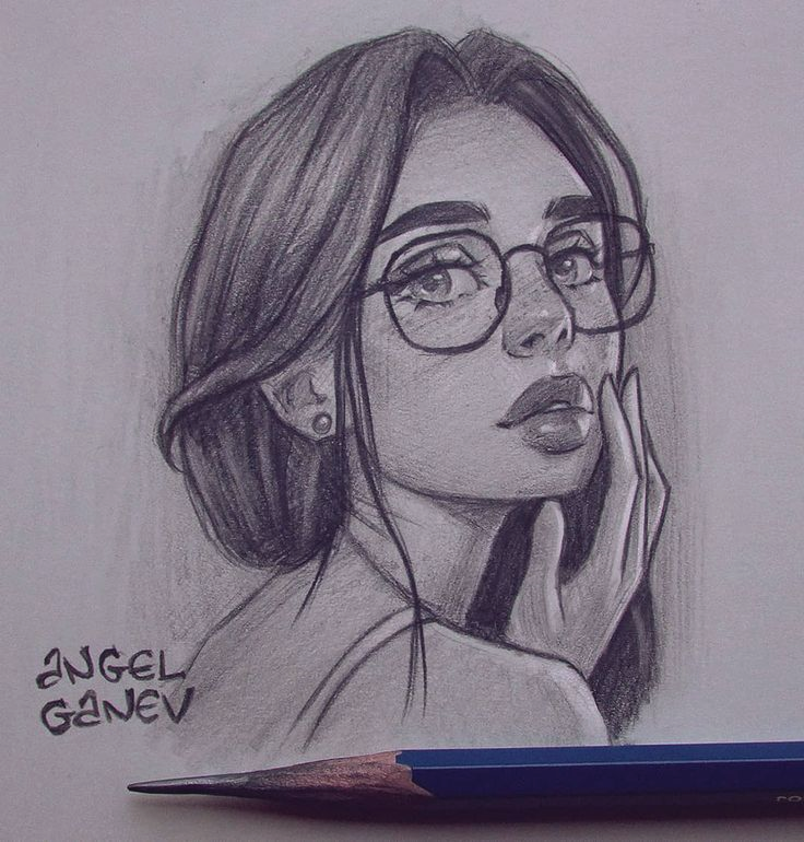 Portrait Picture To Pencil Sketch By Angel Ganev Artwork Drawing Sketch Illustratio In 2020 Girl Drawing Sketches Realistic Drawings Drawings
