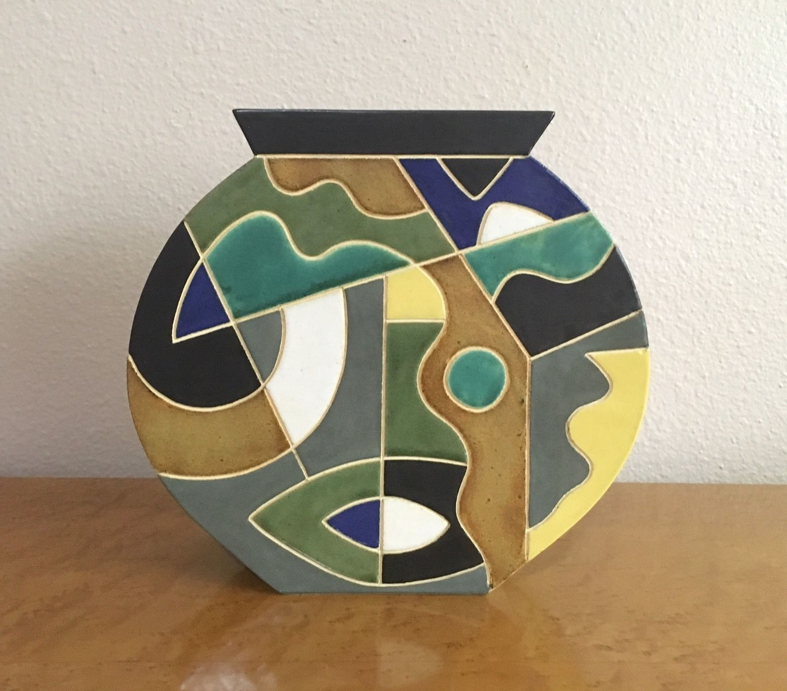 Gary dipasquale postmodern studio pottery vase 1 of 2 ny