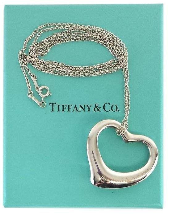 9fd394216 iconic vintage Tiffany & Co sterling silver heart bracelet ... elsa peretti  ... floating open heart