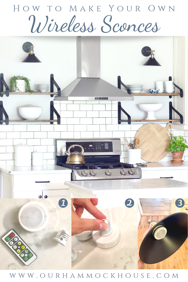 How to Make Your Own Wireless Sconces | Interior wall ...