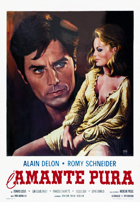 Cartel Italiano De Amorios Romy Schneider Alain Delon Love Film