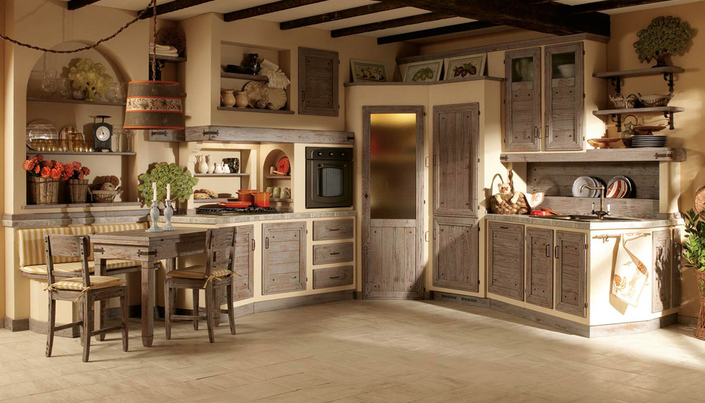Cucina grigia con dispensa arredamento shabby cucine kitchen kitchen design e rustic kitchen - Mobili bianchi shabby ...