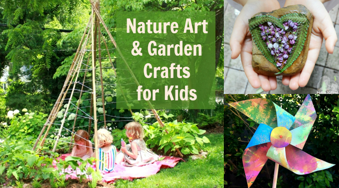 garden crafts for kids plus other fun nature arts and crafts ideas - Garden Art Ideas For Kids