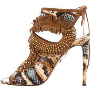 Pre-owned - Python heels Aquazzura mOxEVZHsjl