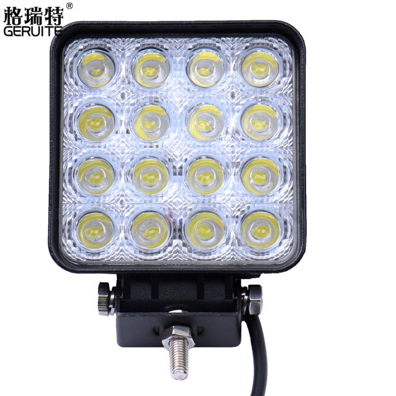 10 Stks Partij 48 W Led Voor Indicatoren Motorfiets 30 Flood Beam Driving Offroad Boot Auto Tractor Truck 4x4 Suv With Images Car Led Lights Work Lights Cree Led Light Bar