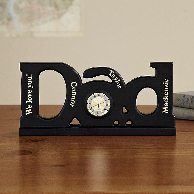 Dad Clock Personalized Gifts For Dad Beautiful Personalized