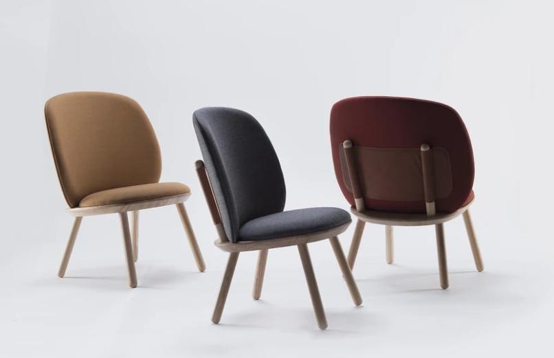 Naïve Low Yellow Fabric armchairs, Armchair