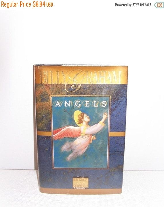 SALE Happy New Years Day Vintage Book Angels by SheCollectsICreate