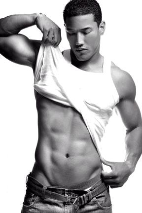 Black asian male model