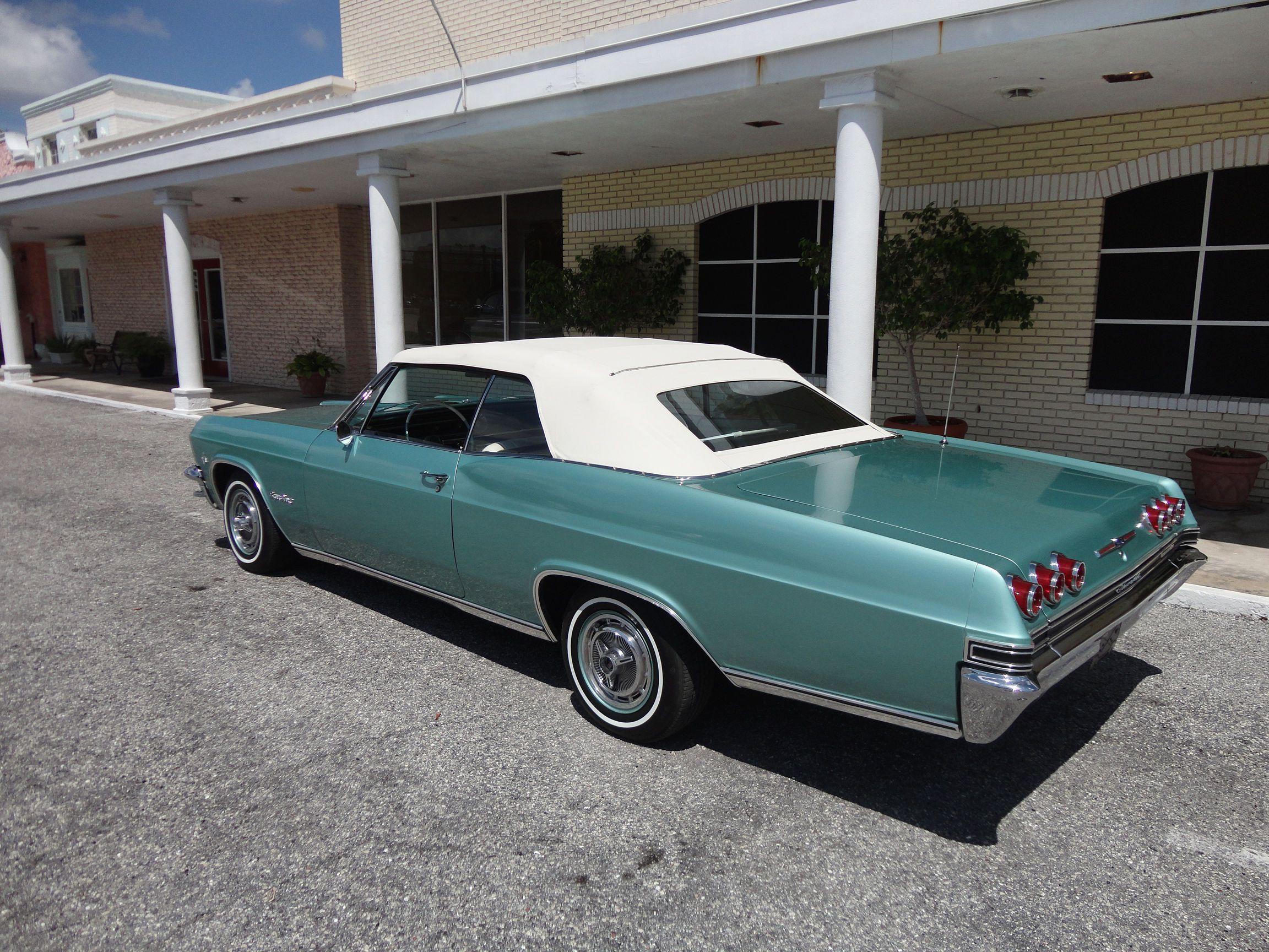 1965 chevrolet impala convertible in artesian turquoise