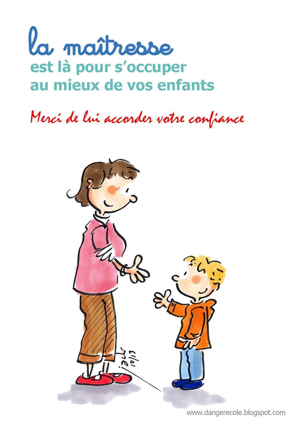 Faites confiance la maitresse de votre enfant par dangerecole rentr e des classes - Dessin maitresse ecole ...