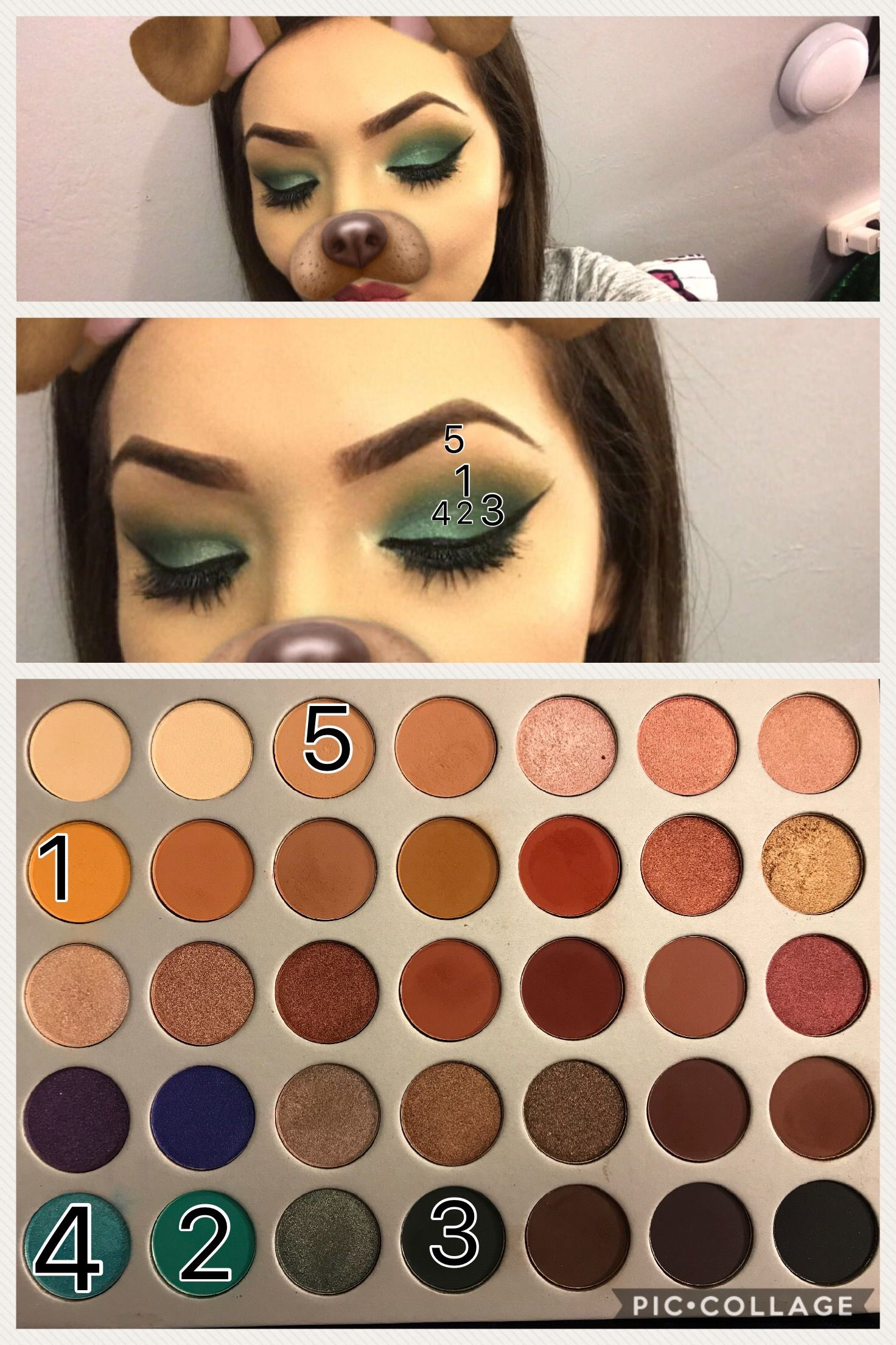 green jaclyn hill palette look! | my makeup in 2019 | eye