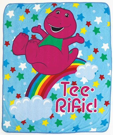 BARNEY Personalized Kids Fleece Throw Blanket by CACBaskets, $25.00
