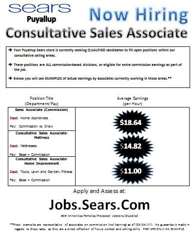 Pin By Seattle Sears Job Openings On Sears Seattle Employment