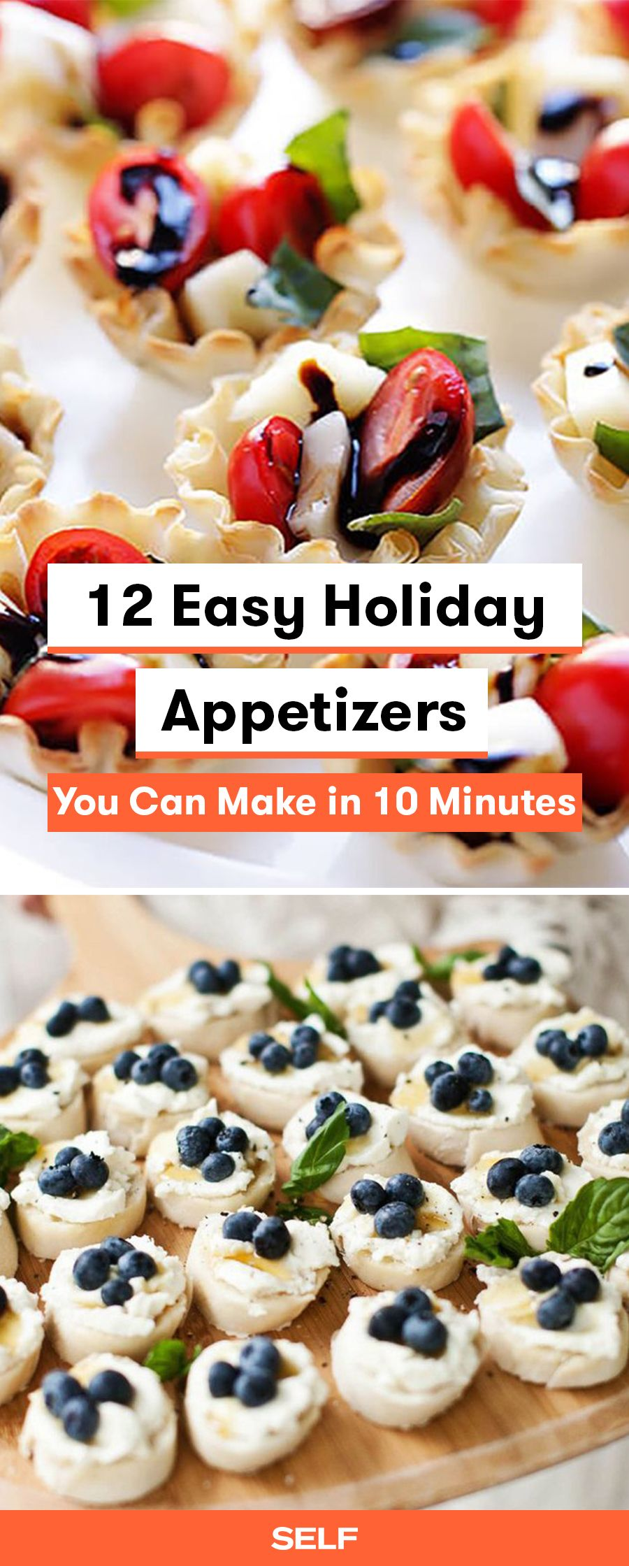 12 Easy Holiday Appetizers You Can Make in 10 Minutes | Holiday appetizers, Appetizers for party ...
