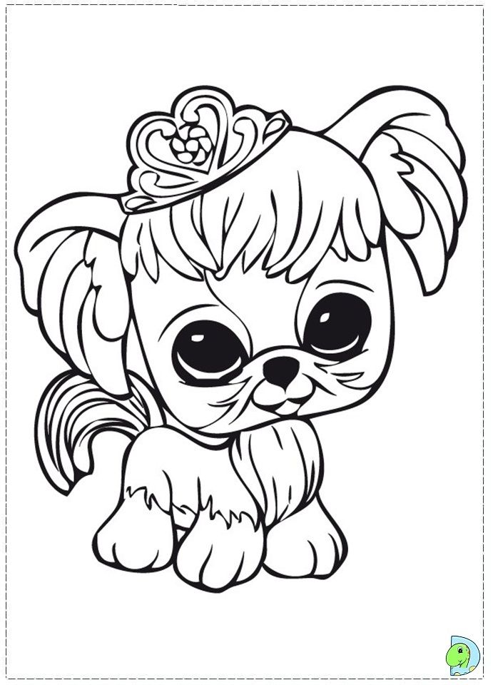 Littlest Pet Shop Peacock Colouring Pages Dog Coloring Page Cat