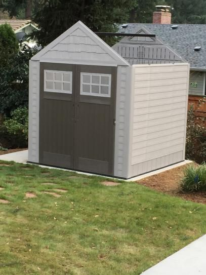 Rubbermaid Big Max 7 Ft 1 In X 7 Ft 2 In Resin Storage Shed