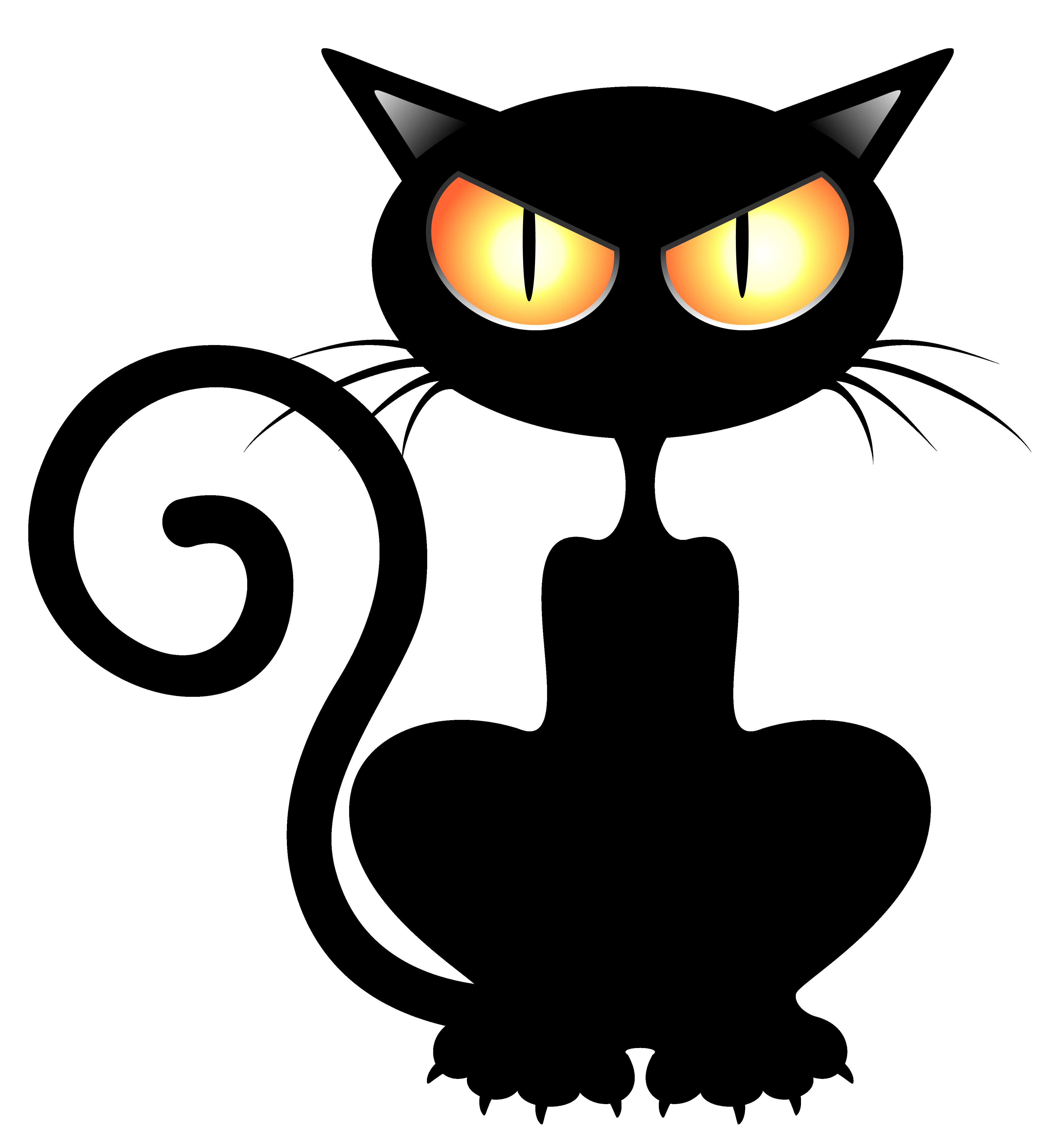 Black Cat PNG Vector Clipart Picture Illustration de