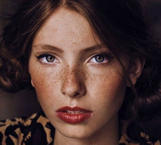 Image result for woman with freckles