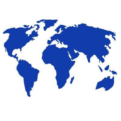 The Decal Guru World Map Wall Decal   Wayfair