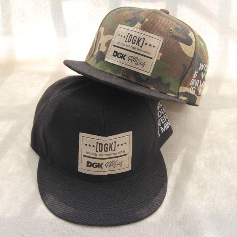 2015 Nueva Moda Camuflaje Hombres Gorra de Béisbol Deporte Sombrero DGK Hip  Hop Gorras Gorras Planas Mujeres Snapback Sombreros(China (Mainland)) 7d23003edf5
