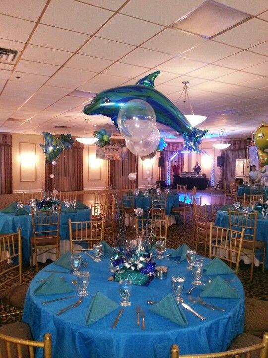 Centerpiece Ocean Theme Birthday Party Entertainment Sea Theme