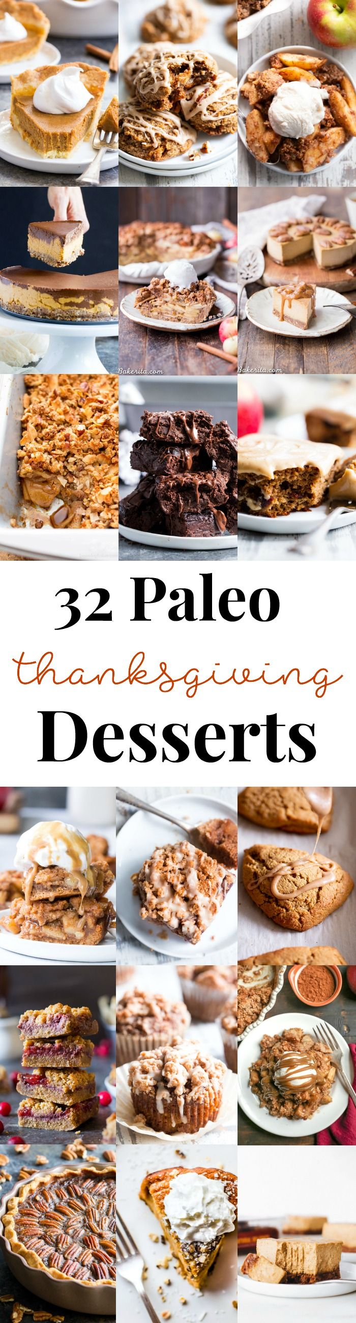 32 Paleo Thanksgiving Desserts
