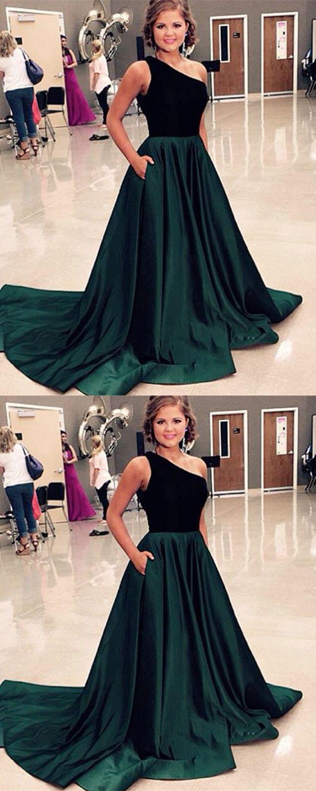 One shoulder long satin prom dresses velvet top evening gowns mi