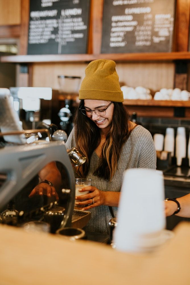 Portrait Woman Coffee Shop And Coffee Hd Photo By Brooke Cagle