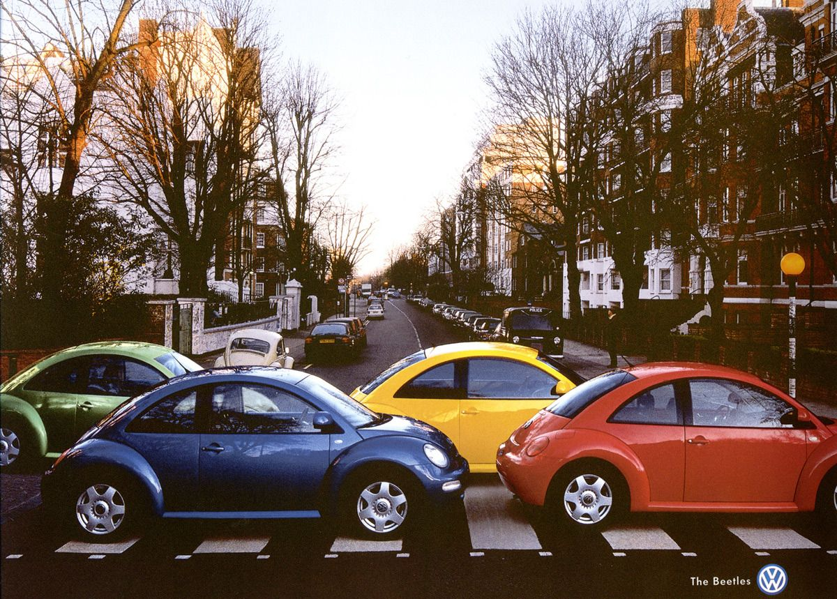 25 Clever Print Ads Abbey Road The Beatles New Beetle