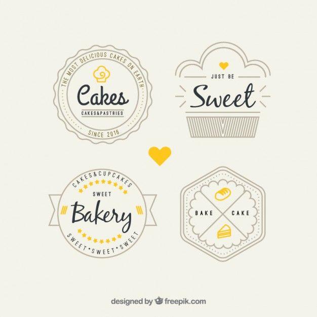 Pacote Logos Padaria Retro | graphic design | Bakery logo