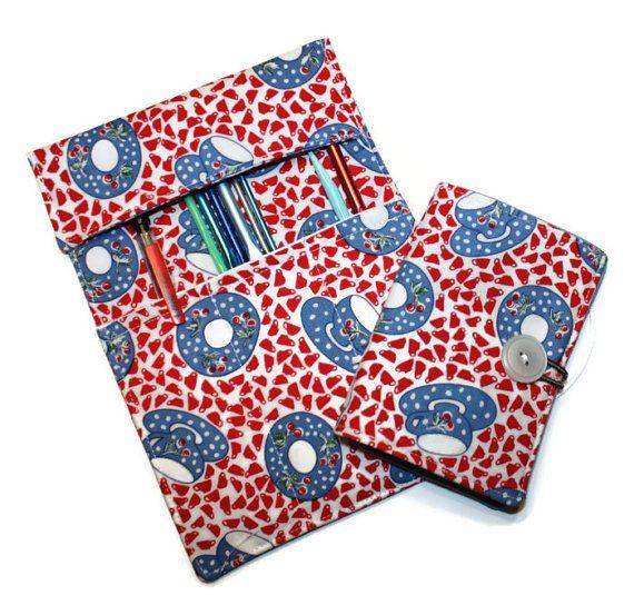 Set Crochet Hook Roll Teabag Wallet Retro By Cozylittlecorner