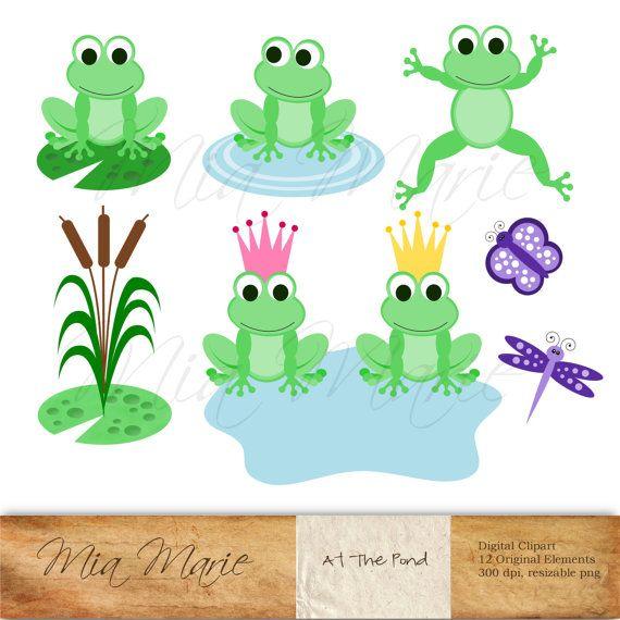 Instant Download Digital Clip Art Frog Clip Art Frog Etsy Digital Clip Art Clip Art Frog Crafts