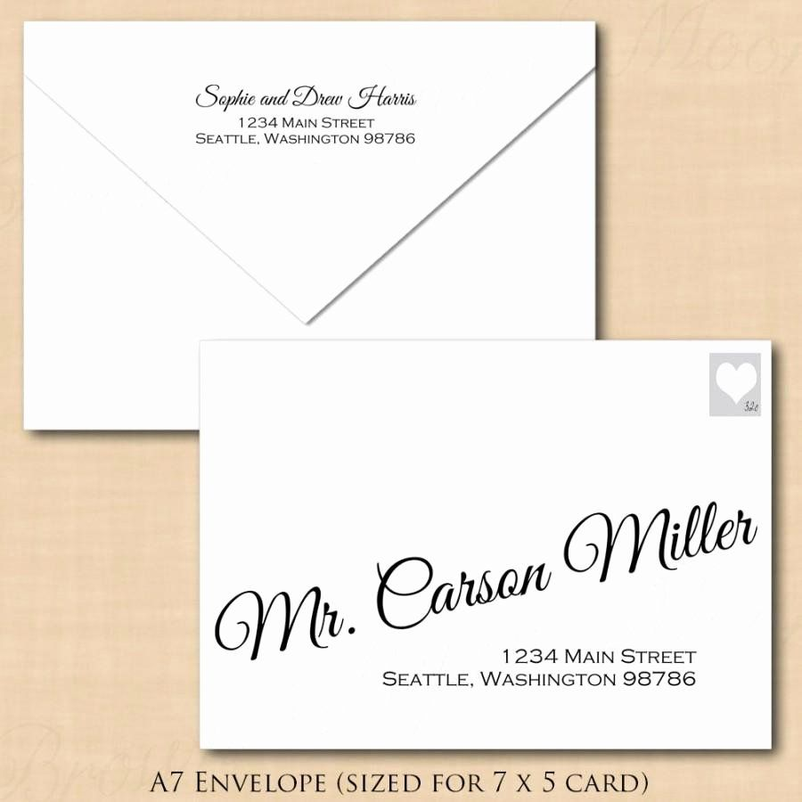 A7 Envelope Template Word Inspirational Change All Colors Calligraphy Address Wedding Envelope Templ Envelope Template Envelope Addressing Template A7 Envelope