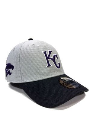 1e0581a3a New Era Kansas City Royals Mens Grey Co Branded 3930 Flex Hat ...