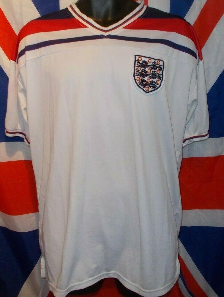 England Official Score Draw Retro World Cup 1982 Shirt Xl Fashion Sports Memorabilia Footballshirts Englishclu 1982 Shirts Shirts Retro Football Shirts