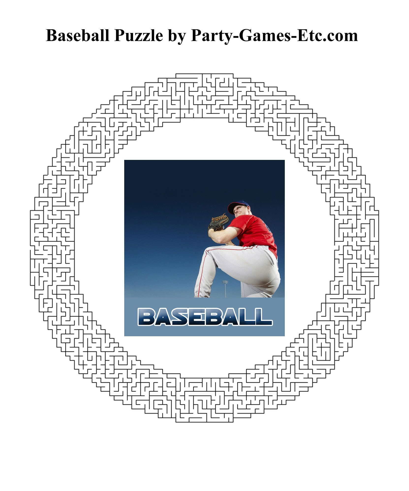 Free Printable Baseball Party Game And Pen And Paper