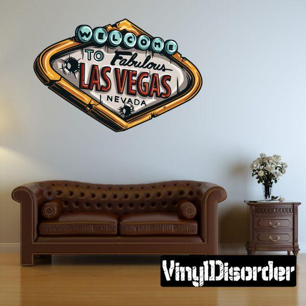 Gambling las vegas sign wall decal vinyl car sticker 4