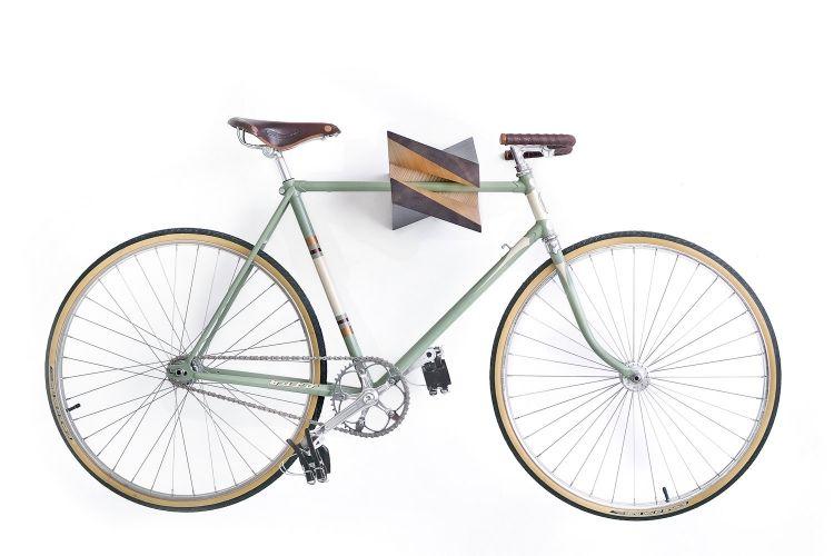 Fahrradhalterung Wand Design Holz Wohn Design