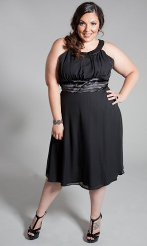 Cute Little Black Dress Look Plus Size Fashion Great Holiday