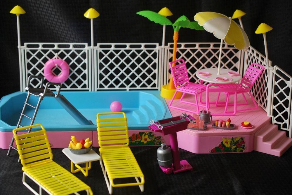 Barbie 1986 Patio Set Playsets