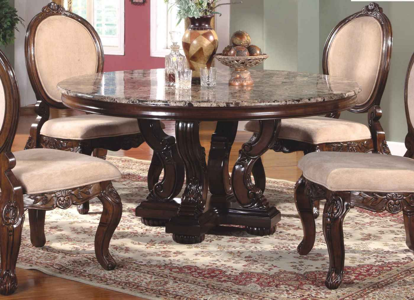 21+ Marble top high dining table set Top