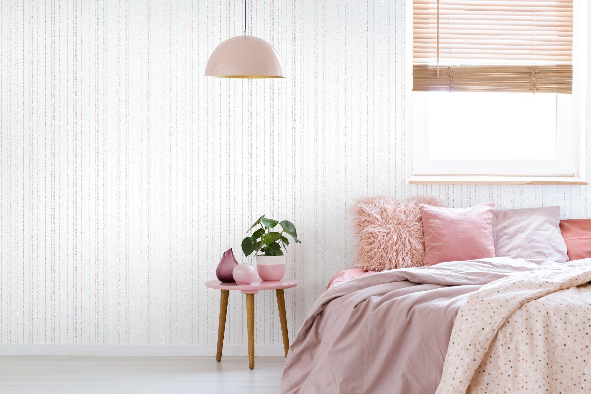 Dotty StripeWallpaper in Pastel Striped wallpaper