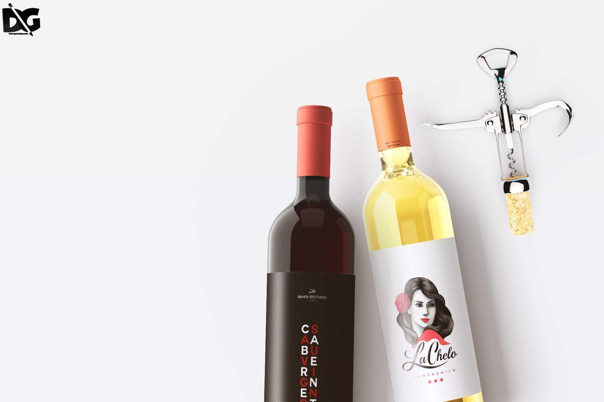 Download Realistic Wine Bottle Psd Label Mockup Branding Download Downloadpsd Free Freemockup Freepsd Freebie Mock Up Mockuppsd Psd Wine Bottle Bottle Mockup